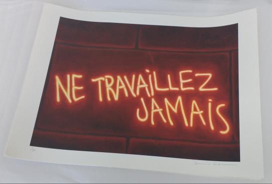 Neon Graffiti print